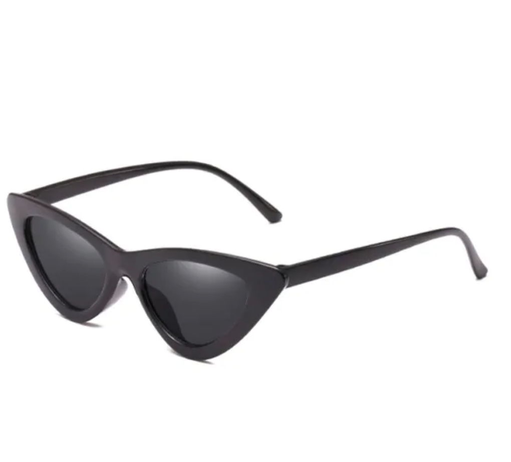Anti Fatigue Flat Lens Catty Sunglasses - Black