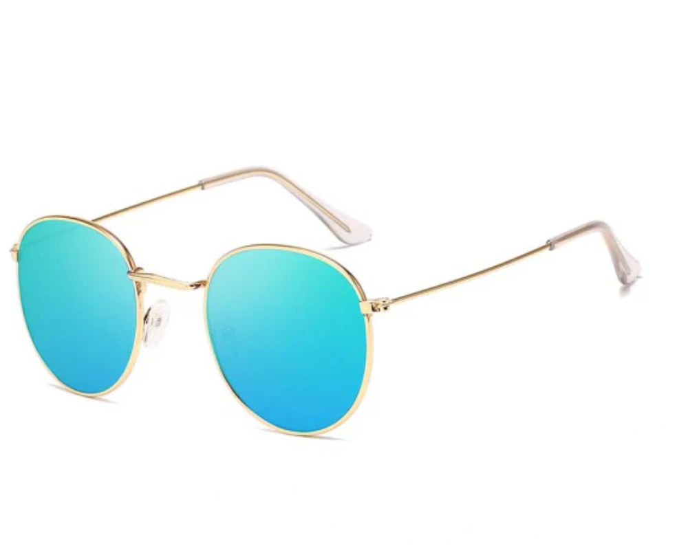 Retro Anti UV Round Sunglasses Blue
