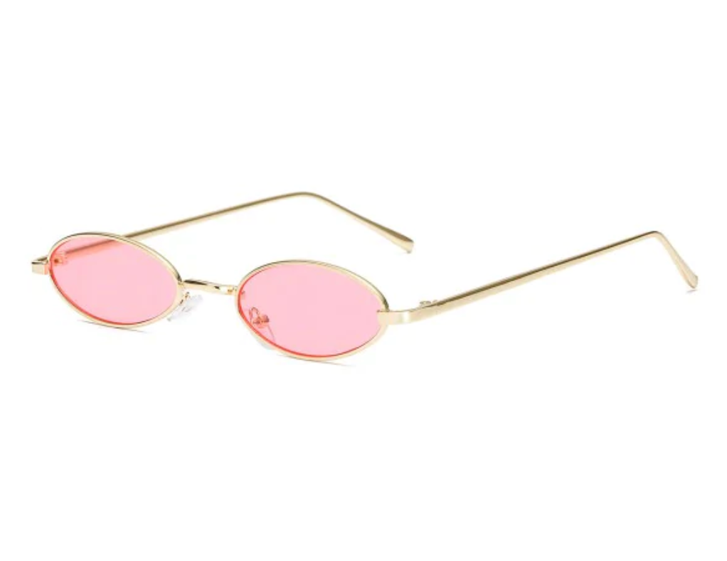 Vintage Small Oval Metal Sunglasses
