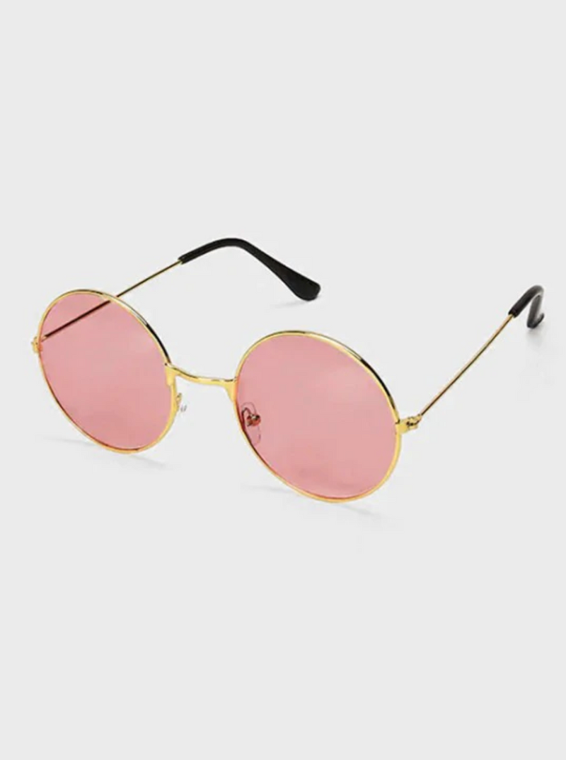 Round Driver Polarized Sunglasses - Light Pink
