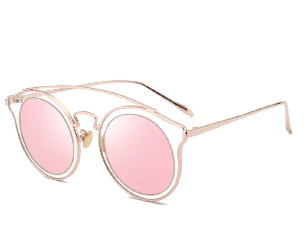 Arc Bar Metal Round Sunglasses
