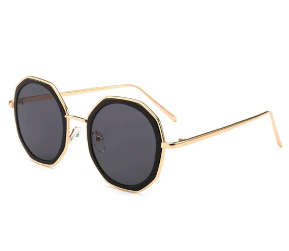 Round Anti UV Metal Sunglasses