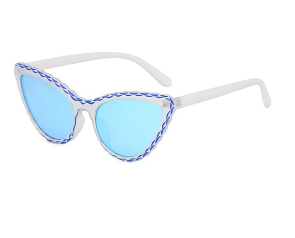 Wavy Rim Butterfly Shape Stylish Sunglasses