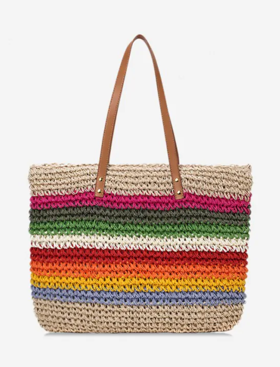 Rainbow Stripe Shoulder Bag