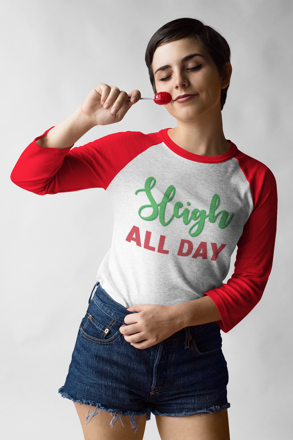 Sleigh All Day Baseball T-Shirt