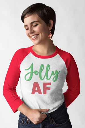 Jolly AF Baseball T-Shirt Red & White
