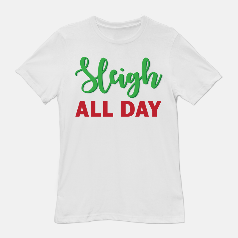 Sleigh All Day Unisex T-Shirt White