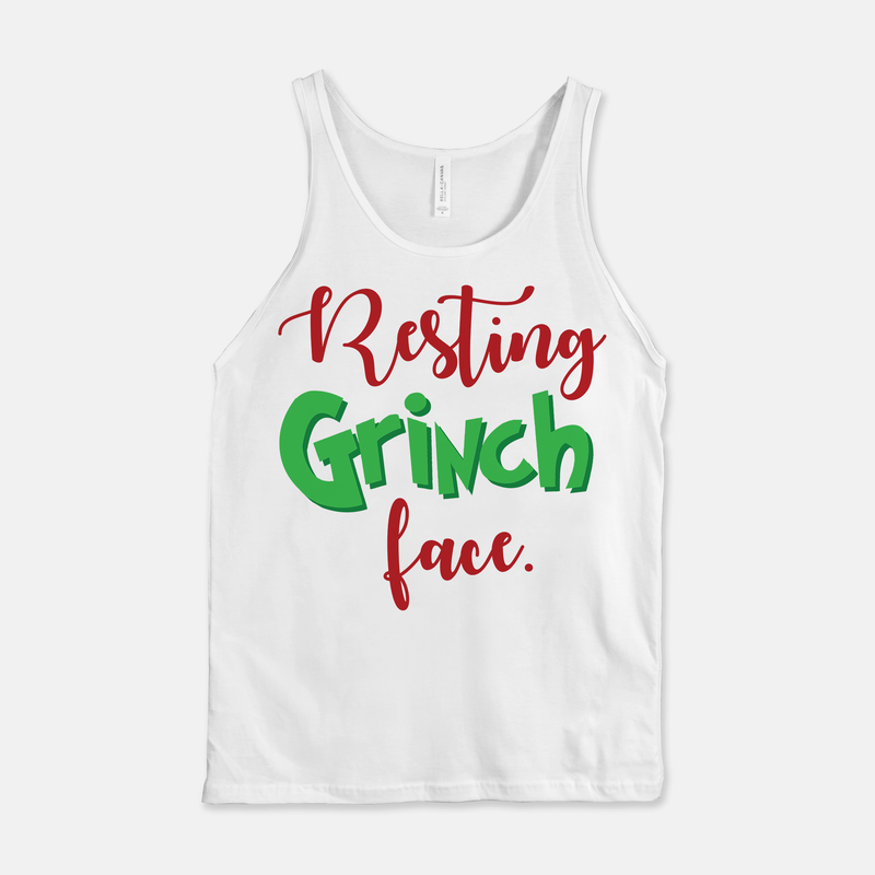Resting Grinch Face Unisex Tank Top