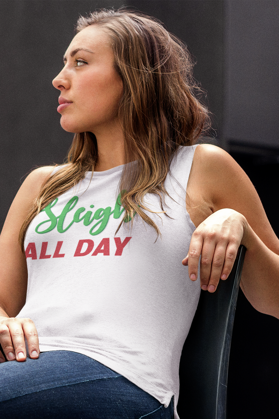 Sleigh All Day Unisex Tank Top