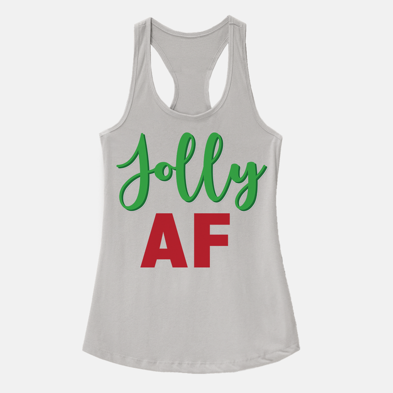 Jolly AF Women's Racerback Tank Top White