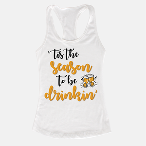 Tis The Season Women's Racerback Tank Top White