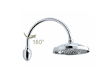 Retro' Shower Head (230mm) & Arc Shower Arm