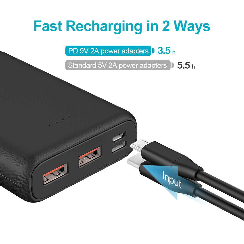 Charmast 10400mAh 18W Mini Power Bank