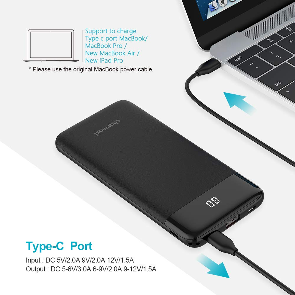 Charmast 10400mAh Quick Charge with Display Power bank