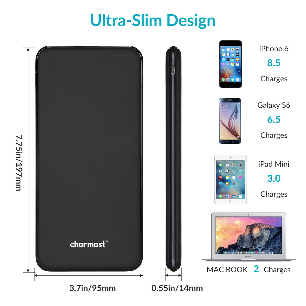Charmast Power Delivery Power Bank, 26800mAh PD Power Bank, 18W USB-C Portable Charger with Quick Charge 3.0 Compatible with MacBook/New Type-C iPad Pro/MacBook Air, iPhone, Pixel, Samsung