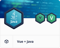 Vue admin with Java