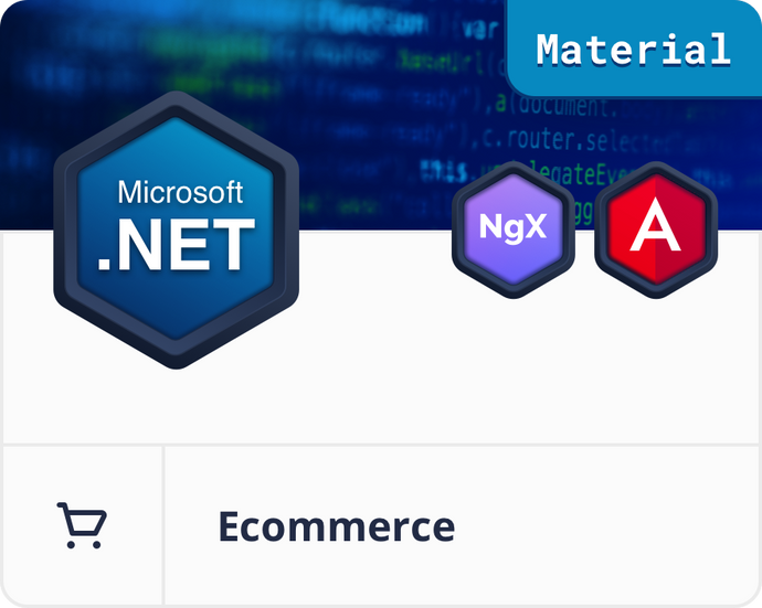 Angular Material .NET E-Commerce Dashboard