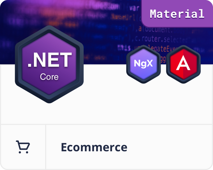 Angular Material .NET Core E-Commerce Dashboard