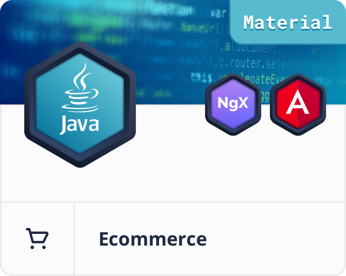 Angular Material Java/Spring E-Commerce Dashboard