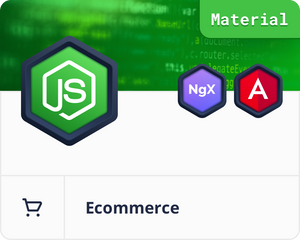Angular Material Node.js MongoDB E-Commerce Dashboard