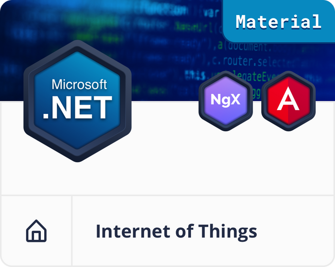 Angular Material .NET IoT Dashboard