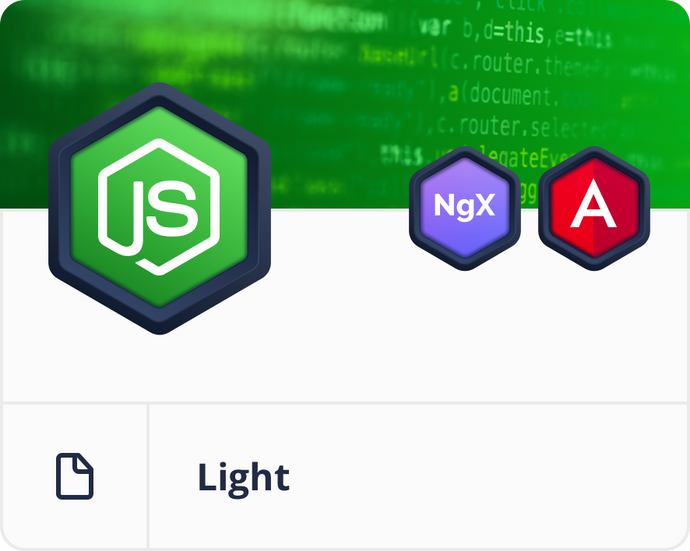 Angular Node.js MongoDB Light Dashboard