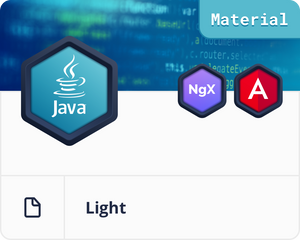 Angular Material Java/Spring Light Dashboard