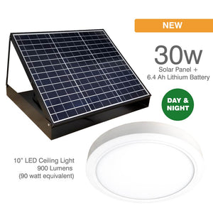 Day & Night 30w Solar LED Skylight, Solar Charged Battery