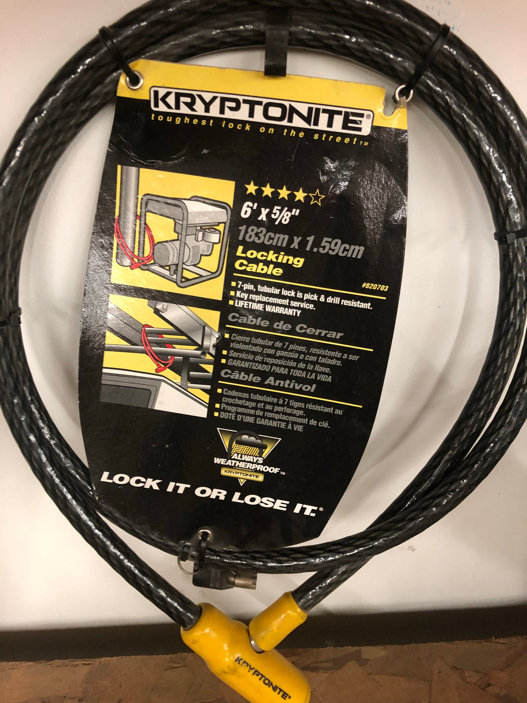 KRYPTONITE Locking Cable
