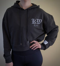 Load image into Gallery viewer, Kwill Team Cropped Hoodie Charcoal