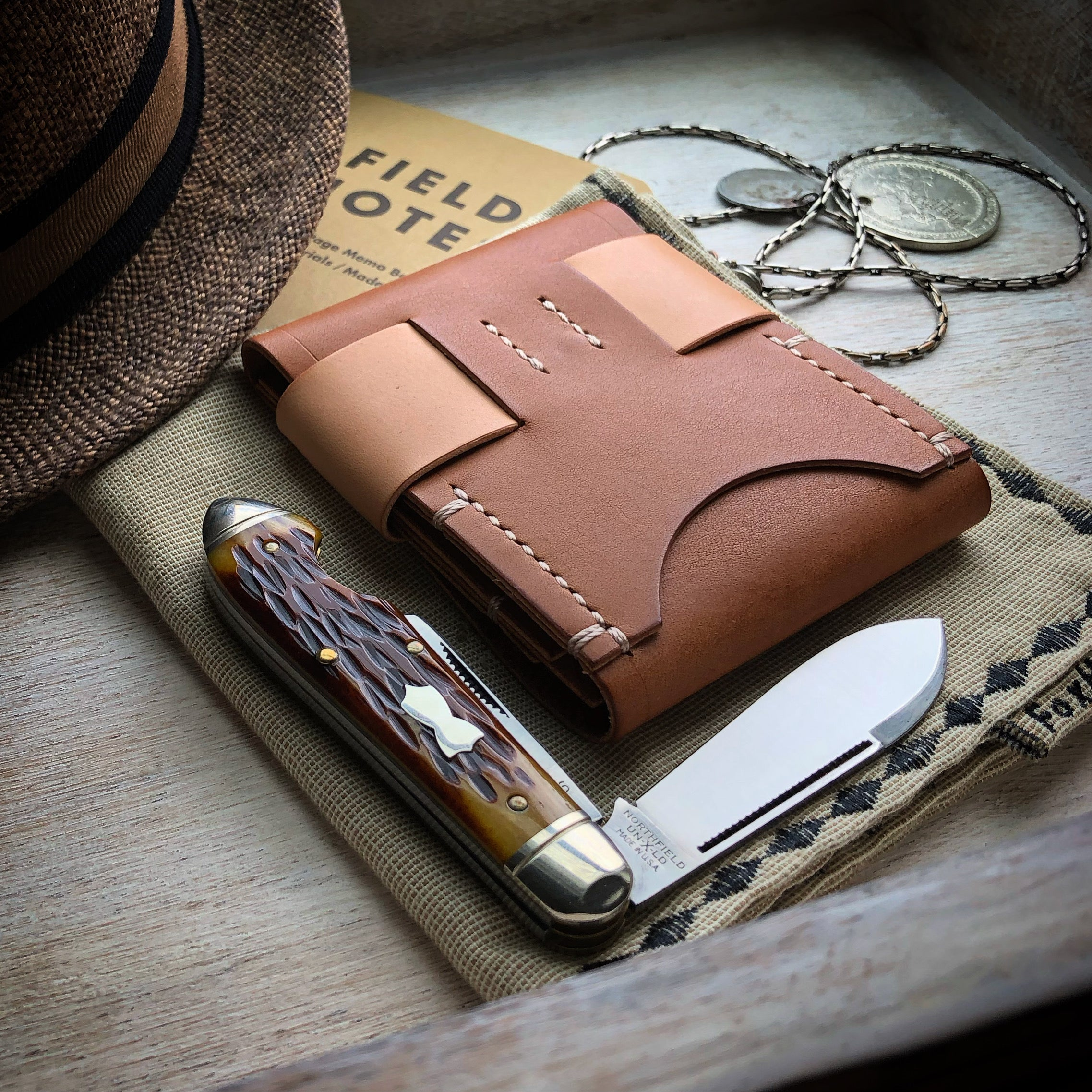 Luxe Minimalist Wallet - Quick Access - Buck Brown & Russet
