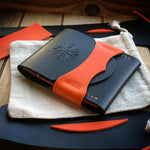 Luxe Wallet - Quick Access - Black and Orange