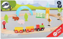 Load image into Gallery viewer, City & Countryside Wooden Toy Train Set