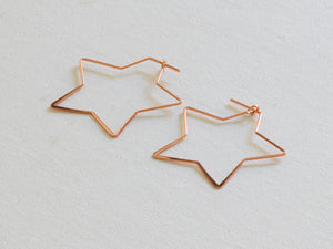 Iman Oversized Star Hoops