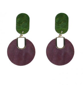 Gertrude Two Tone Resin Earrings