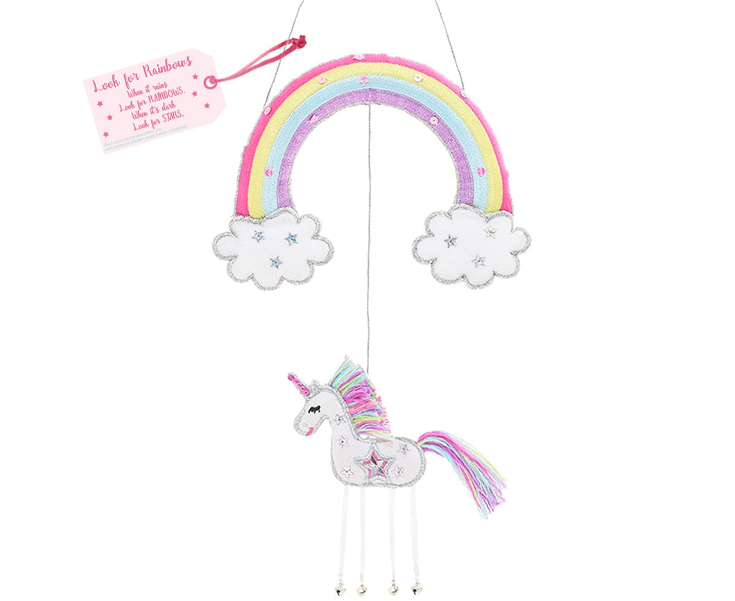 Unicorn - Look for Rainbows -  Hanging Decoration