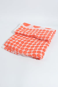 Orange and White Spot Scarf