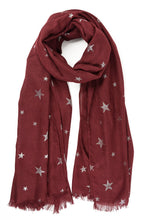Load image into Gallery viewer, Metallic Star Scarf
