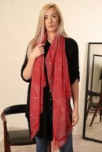 Load image into Gallery viewer, Red Spotty Scarf