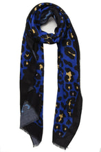 Load image into Gallery viewer, Leopard Print & Colour Block Border Scarf