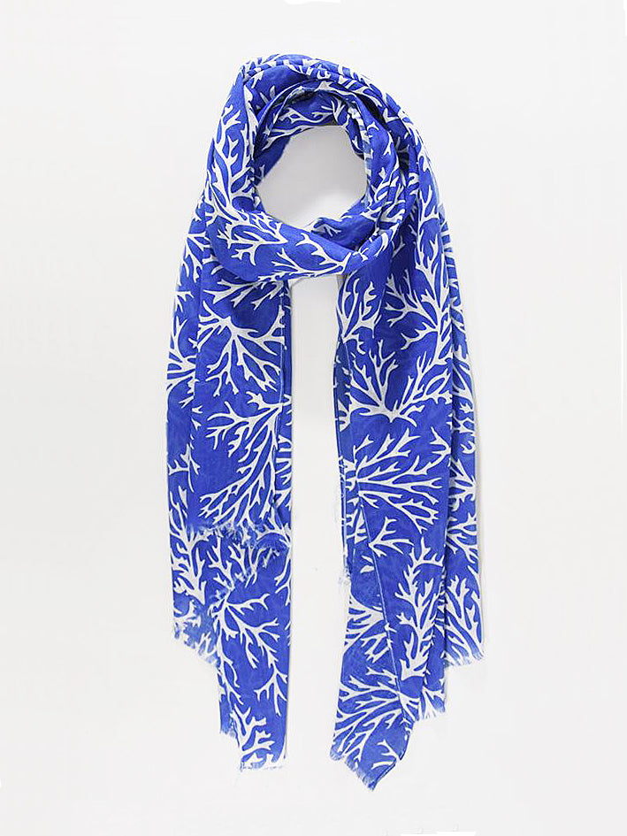 Coral Print Scarf