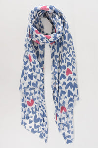 Colour Pop Illustrated Heart Scarf