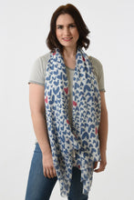 Load image into Gallery viewer, Colour Pop Illustrated Heart Scarf
