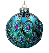 Load image into Gallery viewer, Peacock Feather Trelis Christmas Decorations