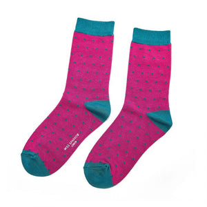 Miss Sparrow Bamboo Polka Dot Socks