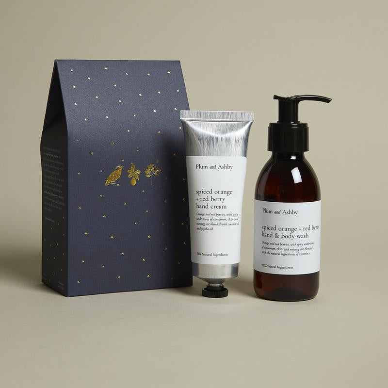 Plum & Ashby Spiced Orange & Red Berry Wash & Hand Cream Gift Set