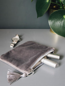 Chalk Annie Velvet Purse