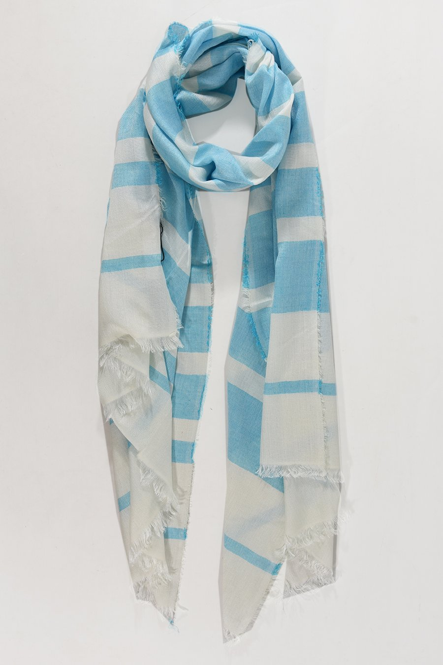 Striped Cotton Scarf