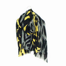 Load image into Gallery viewer, Cotton & Wool Blend Animal Print Scarf