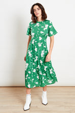 Load image into Gallery viewer, Jasmine Green & White Floral Print Dress